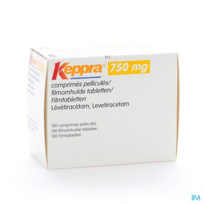 Keppra 750mg Comp Pell 100x 750mg
