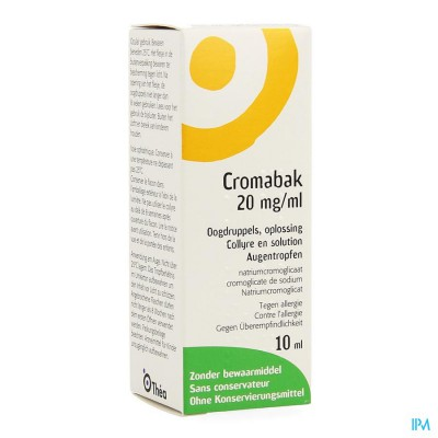 Cromabak Collyre 2% 10ml