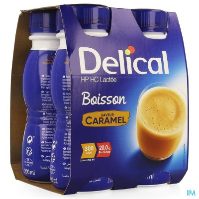 Delical Melkdrank Hp-hc Caramel 4x200ml