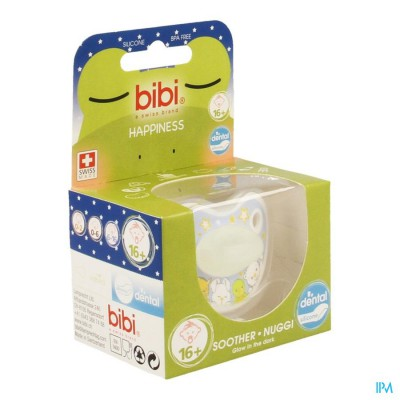 Bibi Fopspeen Dental Glow In The Dark +16m