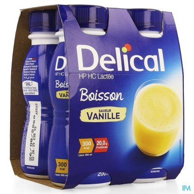 Delical Melkdrank Hp-hc Vanille 4x200ml