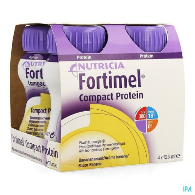 Fortimel Compact Protein Banaan 4x125ml